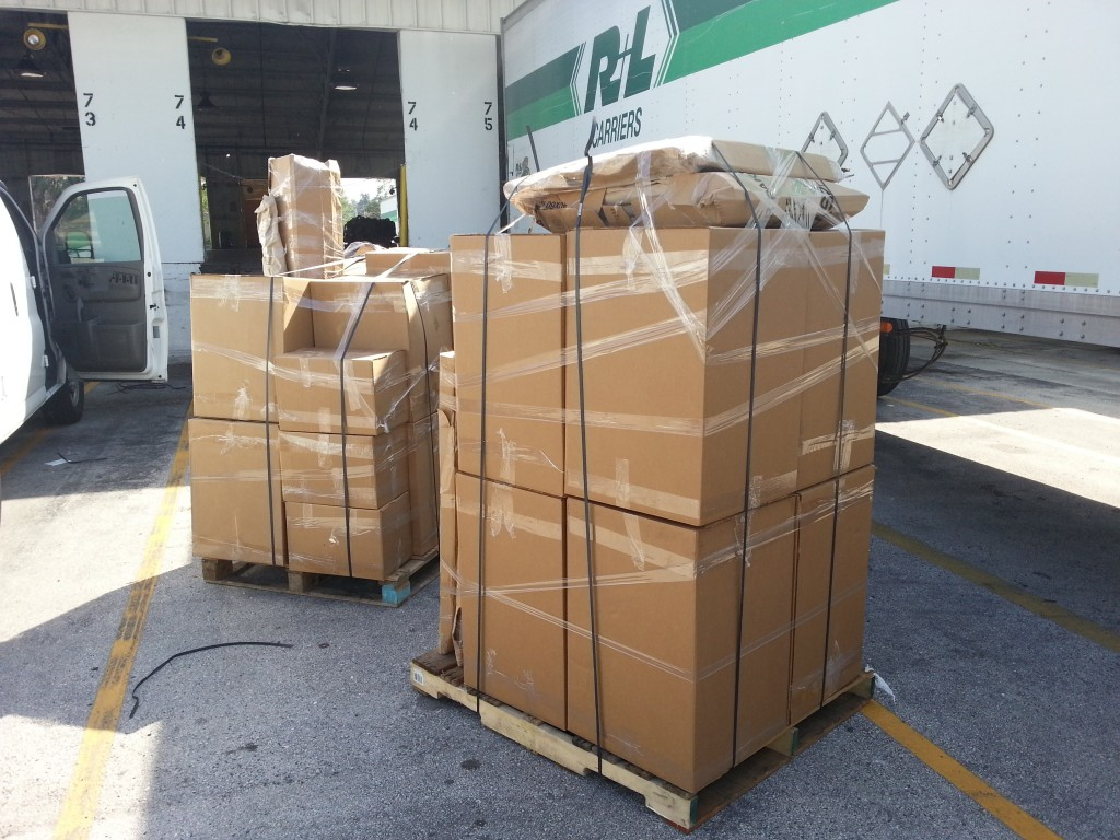 Packing, delivery and palletizing to shipping company to NY