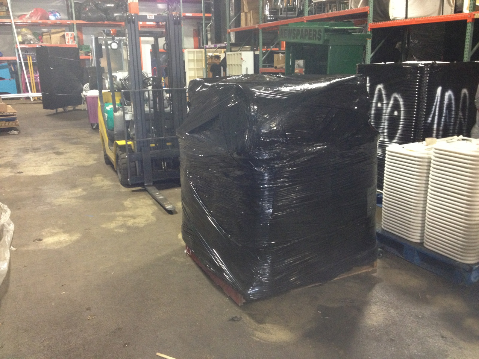 Shrink Wrapping Palletizing By Packing Service Inc. 2