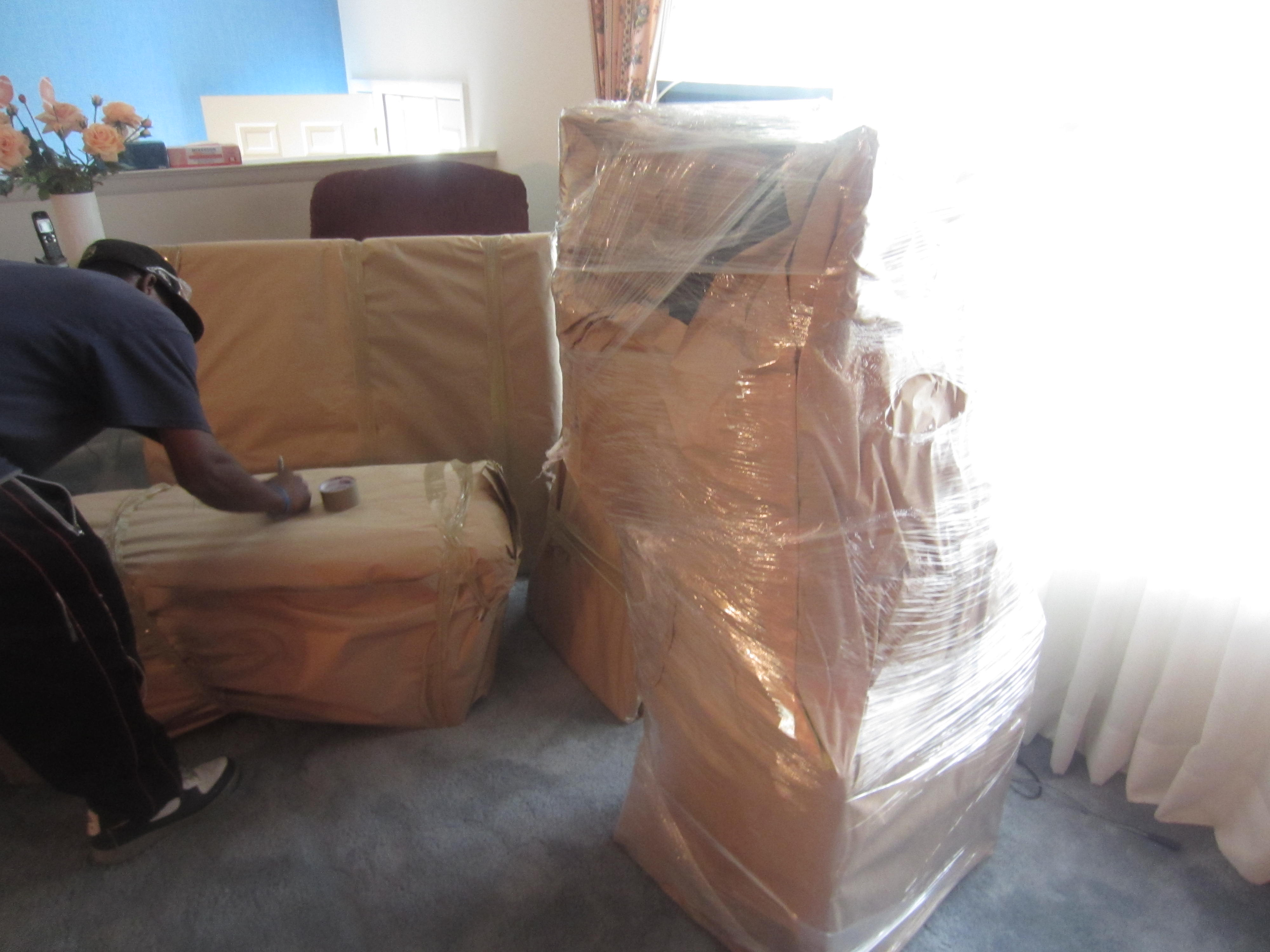 Packing Service, Inc. Wrapping Chairs