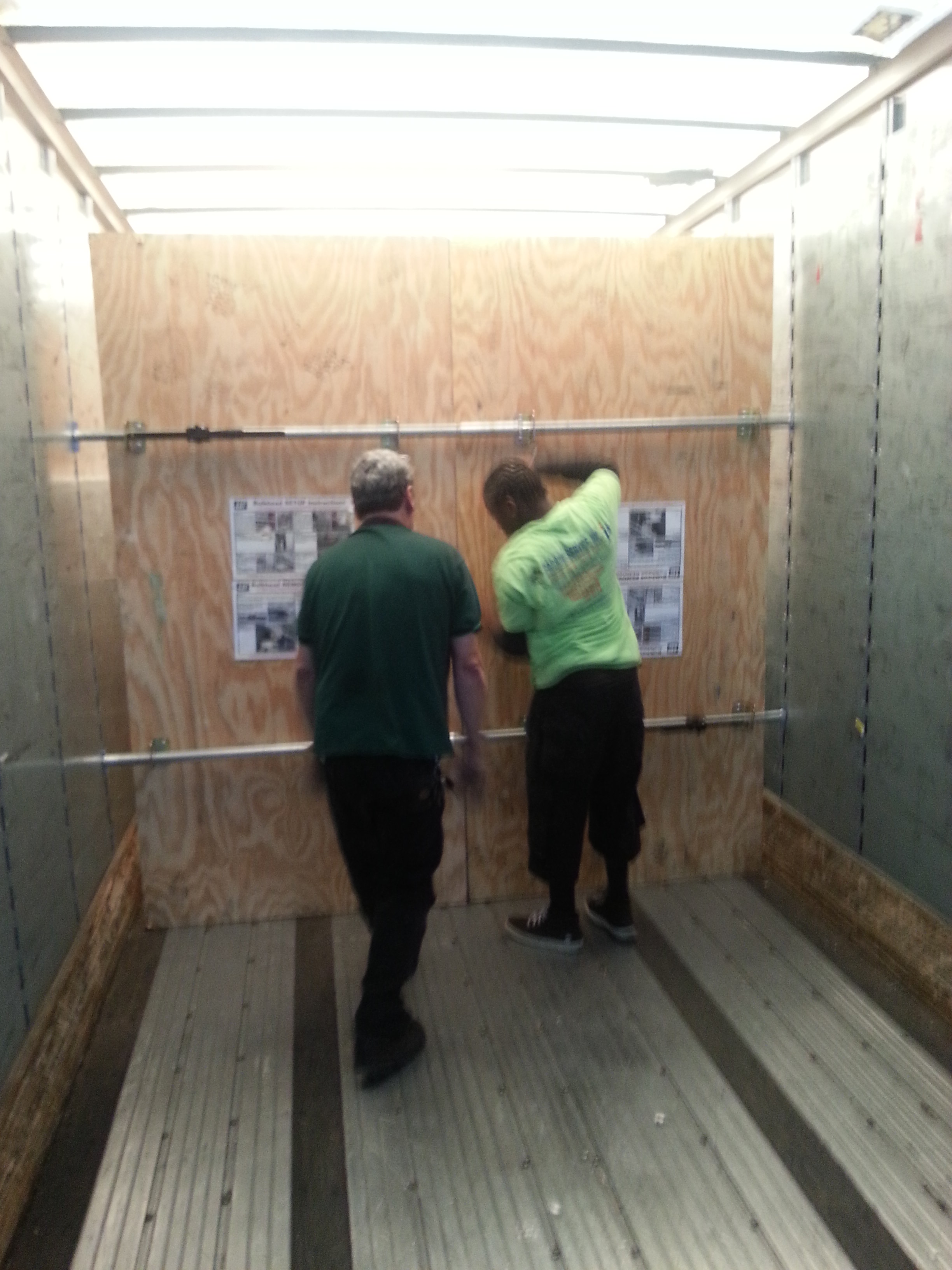 Packing and Loading Trailers and Pods Container