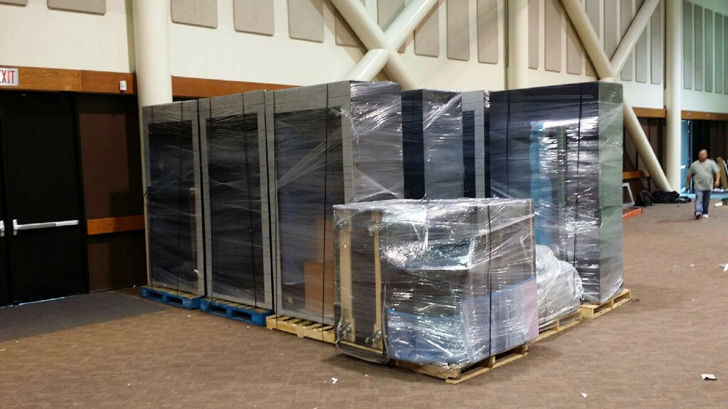 Shrink wrapping for demestic shipping by Packing Service Inc