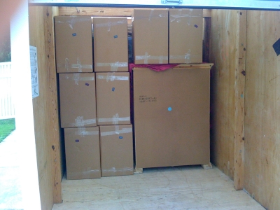 Packing Service, Inc. packing and loading 16 foot Pods Container 3