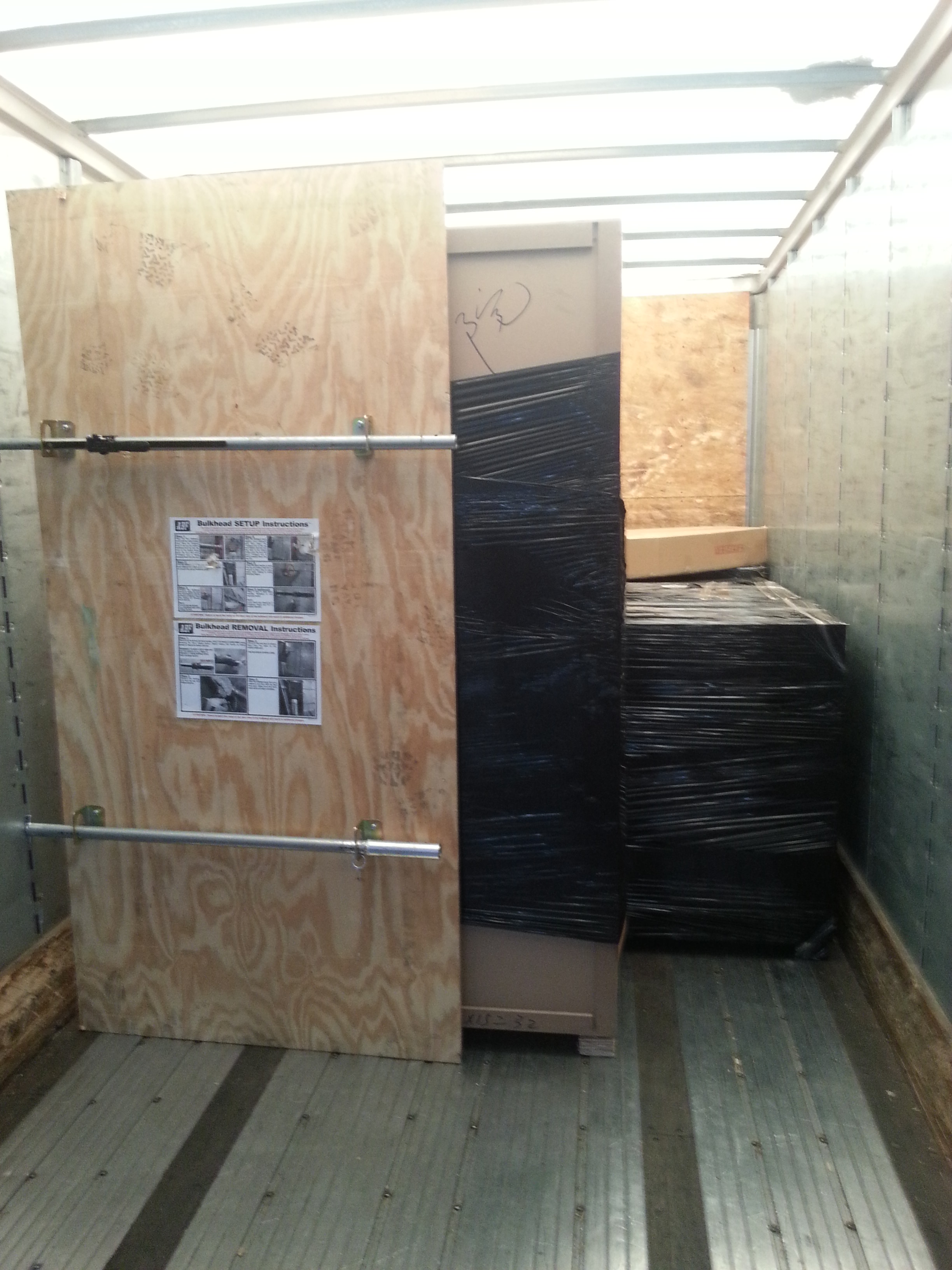Packing and Loading Trailers and Pods Containers -1