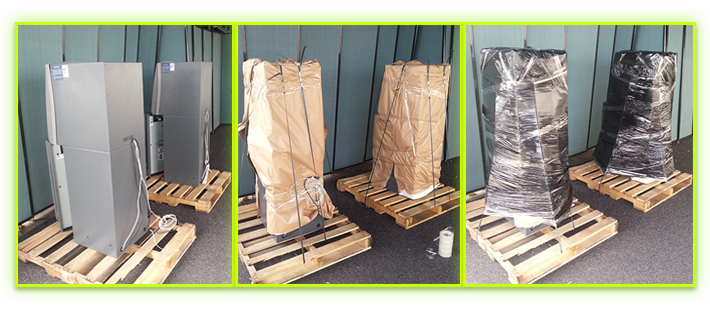 Palletization and Shrink Wrapping Process.
