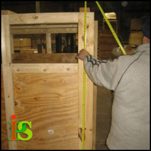 Our team of experts use specially treated wood to build crates for international shipping.