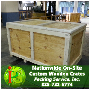 Here at Packing Service, Inc. we use special Heat Treated Wood for our Crates that is designed specifically for international shipping.