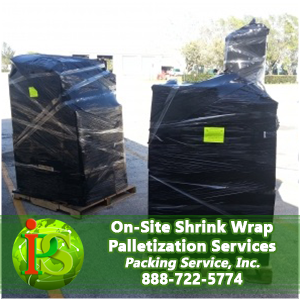 Our professionals are ready to provide shrink wrap palletization services anywhere nationwide.