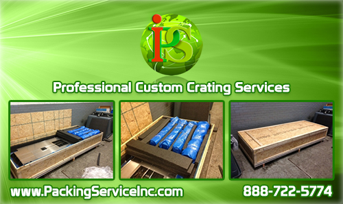 Professional On-Site Crating Services for Machinery, Delicate Equipment, Antique Furniture, and anything else you could require.