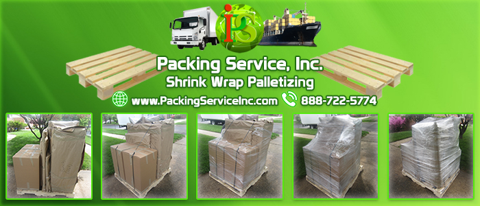Professional Shrink Wrap Palletizing Services by Packing Service Inc
