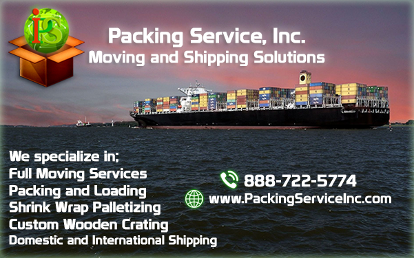 Shipping Company, Shipping Services by Packing Service Inc