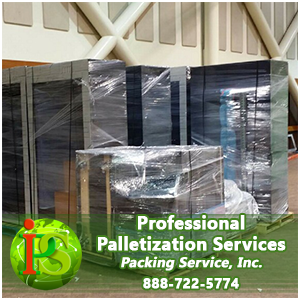 Hire our professional to Shrink Wrap and Palletize any amount of boxes, furniture, and over sized industrial machinery. We provide residential and commercial clients with expert Moving and Shipping Solutions they can count on again and again.