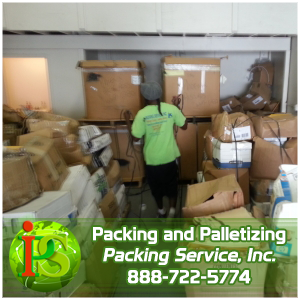 Palletizing Boxes, Palletizing Services by Packing Service Inc