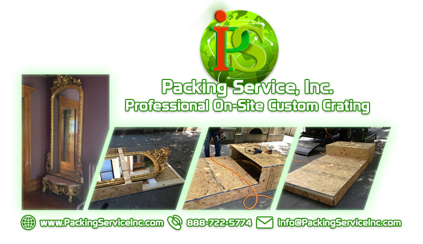 Shipping Services, Custom Crating, and Shrink Wrap Palletizing for antiques by Packing Service Inc