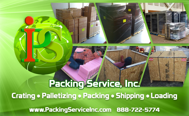 Shrink Wrap Palletizing, Custom Crating, Moving Services by Packing Service Inc
