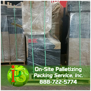 Palletizing Company, Palletizing Boxes, Palletizing Furniture by Packing Service Inc