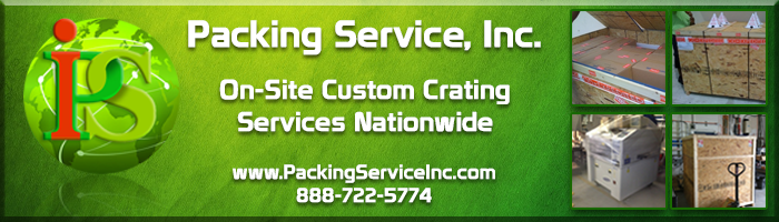 Crate and Ship, Crating Services, Custom Wooden Crating, Wooden Crates, Shipping Services by Packing Service Inc