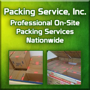 Packing and Loading Professionals, On-Site Pack and Load Services by Packing Service Inc