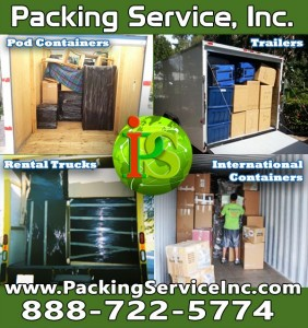 Loading and Unloading Pods Containers, Rental Trucks, Trailers and International Containers by Packing Service, Inc - 2_1