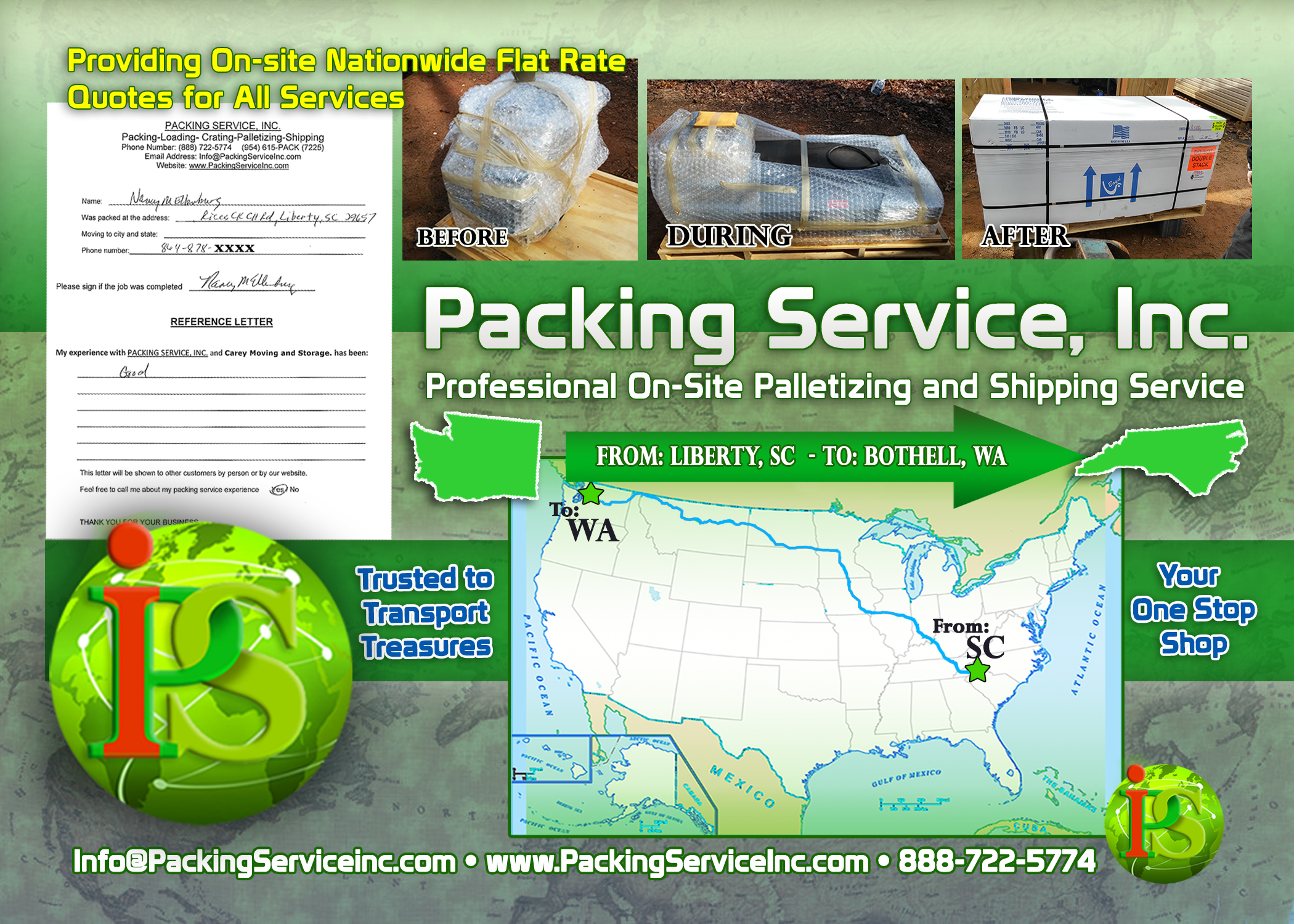 Wrapping, Palletizing and Shipping Machinery SC-WA  by Packing Service, Inc. - 182