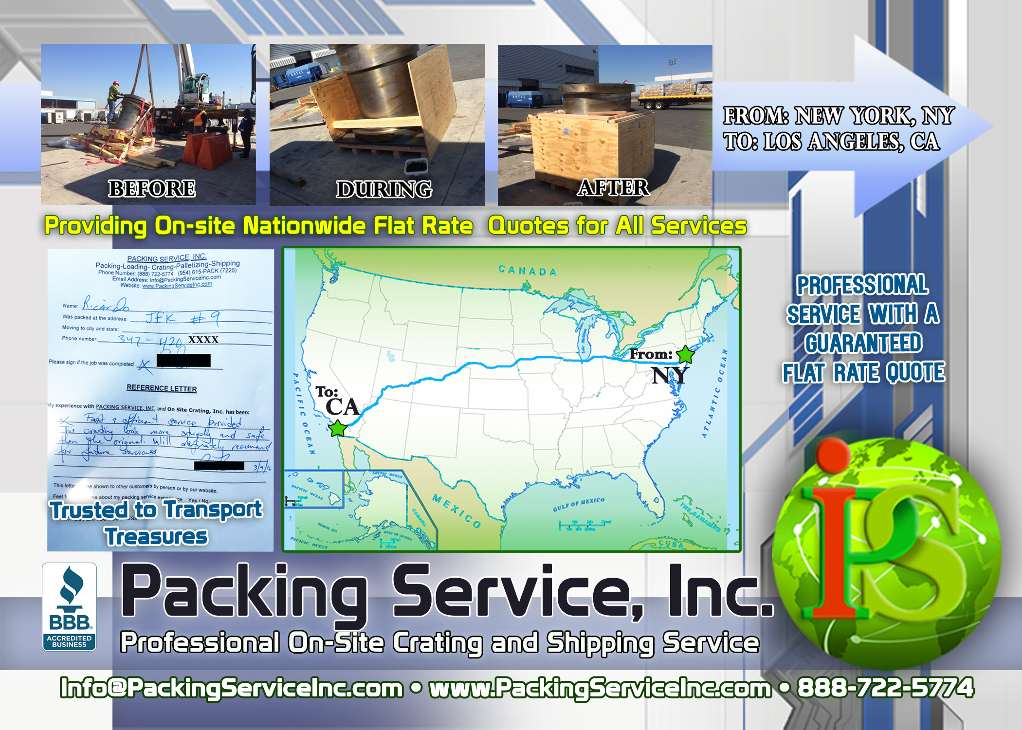 Crating and Shipping from JFK airport NY to Los Angeles, CA with Packing Service, Inc. 4