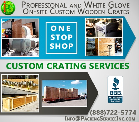 Custom Wooden Crates for Domestic and International Shipping by Packing Service Inc