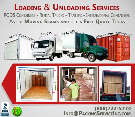 Loading all sizes of Pods Containers, Rental truck, International containers and trailers - 102