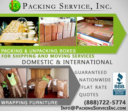 Packing Boxes new, antique or fragile, Wrapping all kinds of furniture Packing Service, Inc. - 101