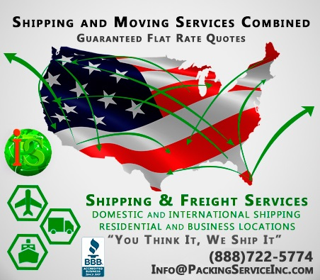 Shipping Nationwide and Internationally by Packing Service, Inc. - 105