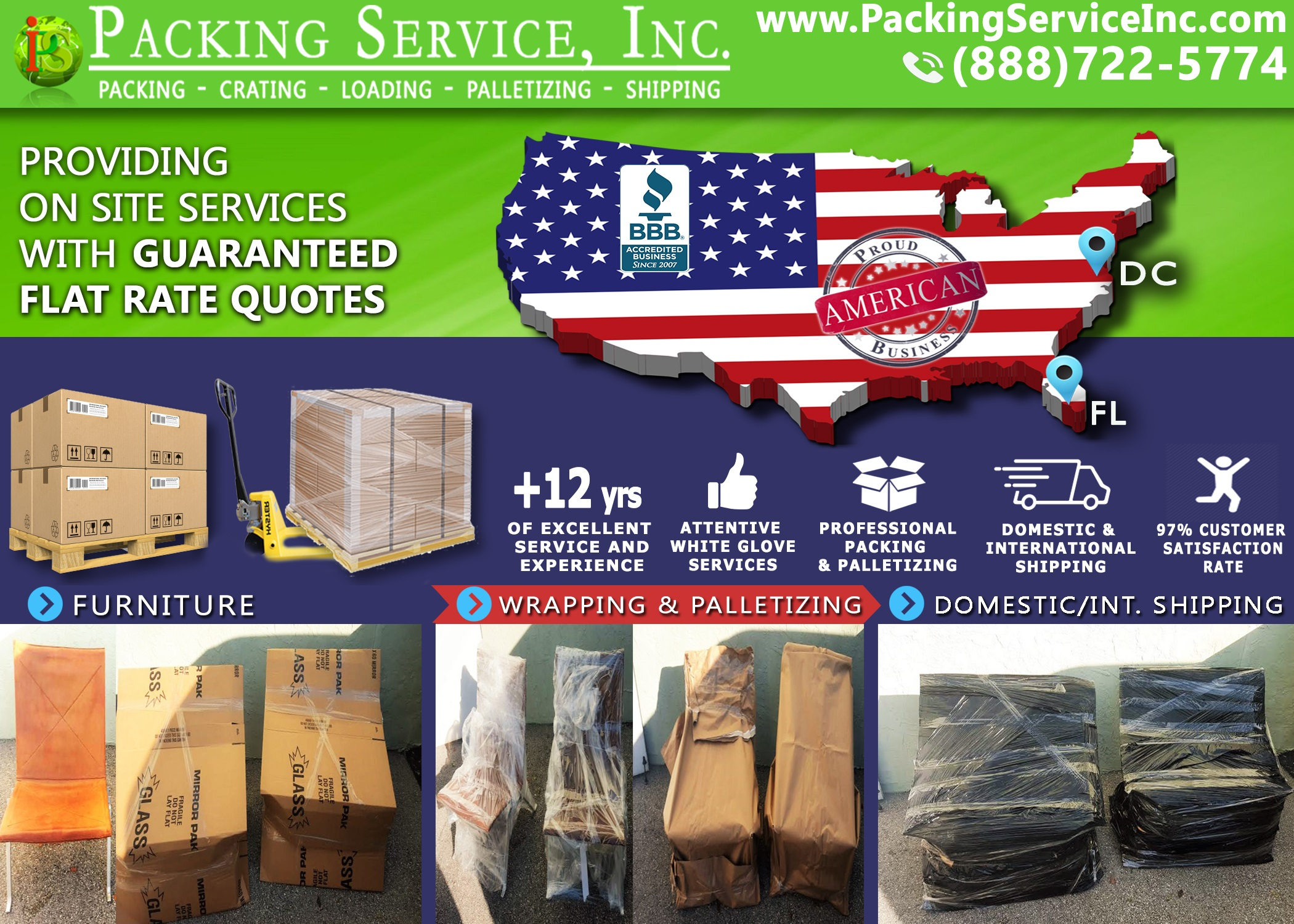 wrapping-2-chairs-and-shipping-from-florida-to-dc-with-packing-service-inc-822