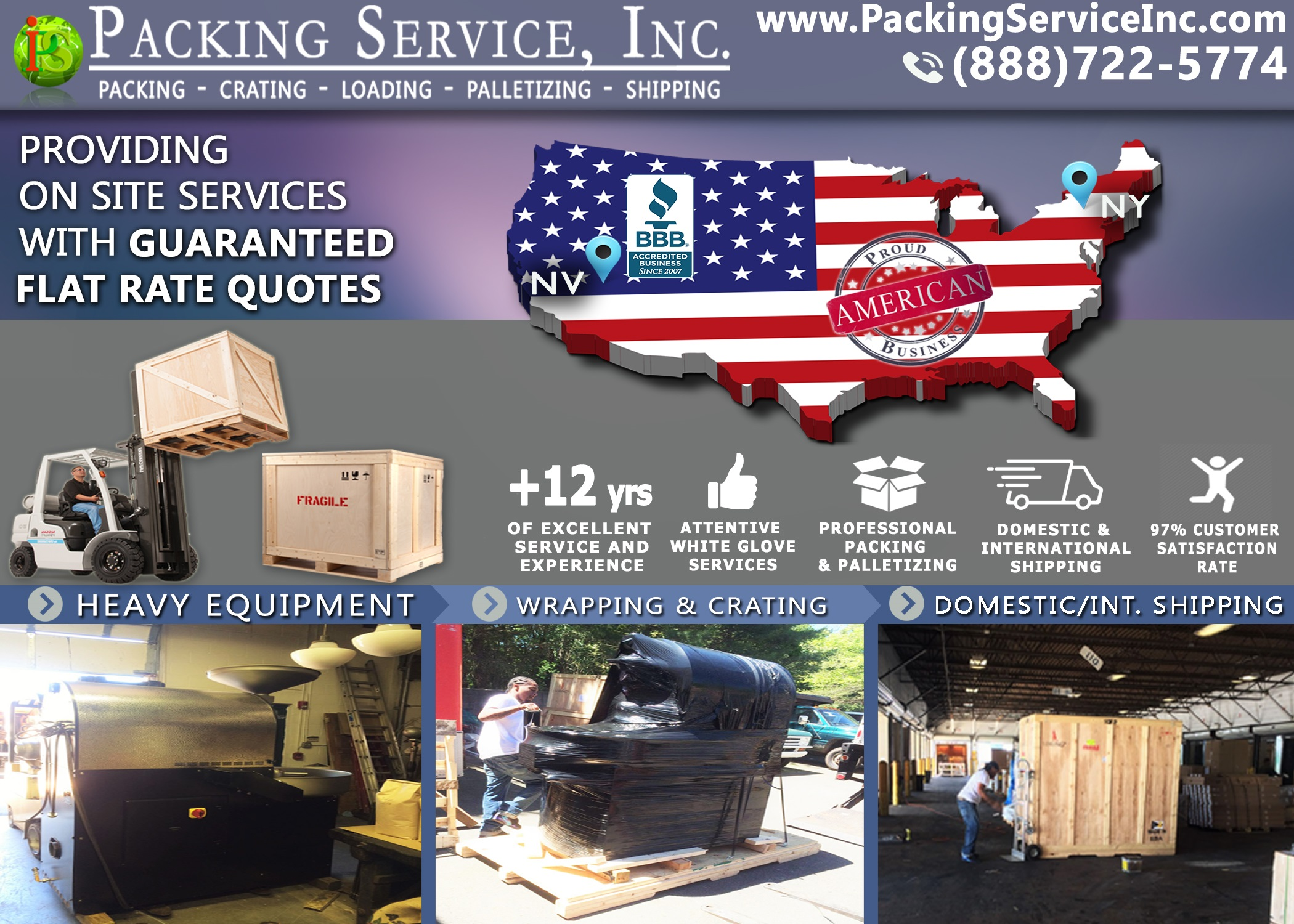 Crating and Shipping from Nevada to New York with Packing Service, Inc. - 591