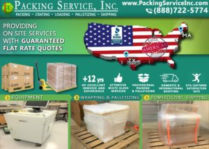 Palletizing and Crating, shipping company, pack and ship
